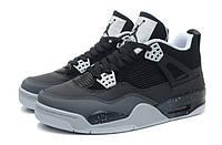 "Кроссовки Air Jordan 4 (IV) Retro ""Black White Grey"""