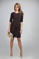 Элегантное прямое платье из мягкой  поливискозы