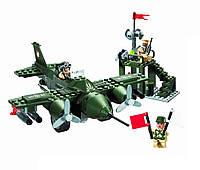 Конструктор BRICK 810 истребитель, 225 дет, в кор-ке, 28-19-4,5см, фото 1