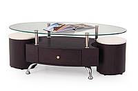 Журнальный стол с пуфами Stella Венге