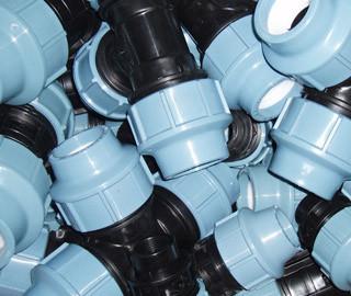 Фитинг зажимной (компрессионный) для полиэтиленовых труб