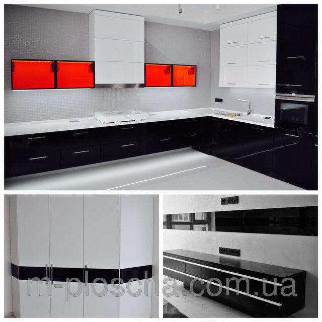 Черно-белая Мебель в ЖК Бровары