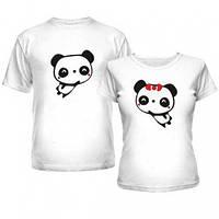 Парные футболки с пандой, футболки для влюблённых с Пандами