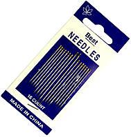 Иглы швейные BEST (16шт) ручные, золотые ушки