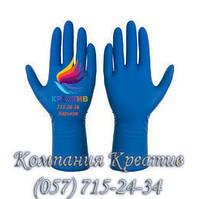 Перчатки хозяйственные, латексные плотные синие (от 30 шт.)
