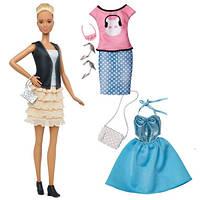 Кукла Барби с набором одежды - высокая/ Barbie Fashionistas Doll 44 Leather & Ruffles Doll & Fashions - Tall