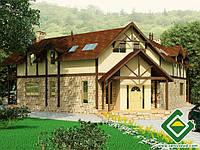 Строительство дома из сип панелей 228,80 м.кв., «КОРАЛ»