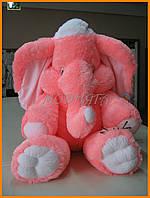 Мягкая игрушка слон розовый 55см