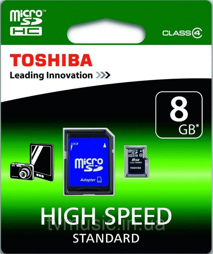 Карта памяти Toshiba microSDHC 8 Gb Class 4