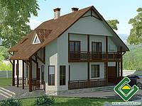 Строительство дома из сип панелей 230,53 м.кв., «ЧУМАК»