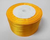 Лента атлас 5 см желтый подсолнух