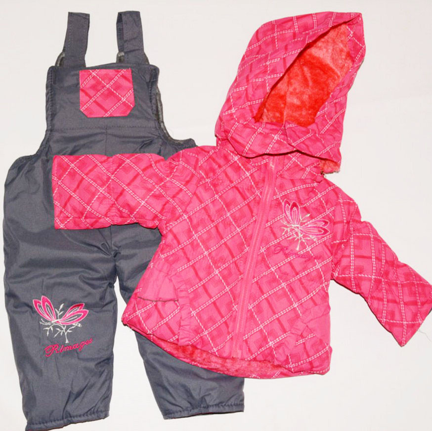 Детский демисезонный костюм на девочку куртка с комбинезоном