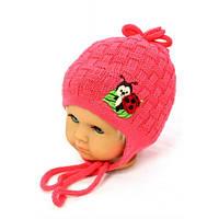 """Детская весенняя шапка для девочек """"Божья коровка"""""""
