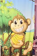 """Штора детская """"обезьяна"""""""
