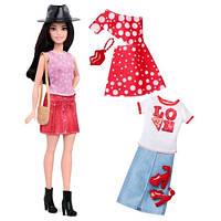 Кукла Барби с набором одежды - невысокая/ Barbie Fashionistas Doll 40 Pizza Pizzazz Doll & Fashions - Petite