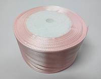 Лента атлас 5 см нежно-розовый