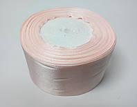 Лента атлас 5 см светло-розовый