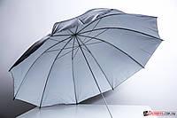 Студийный зонт 152 см черный с белым (48042)
