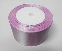 Лента атлас 5 см  розово-сиреневый