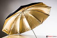 Студийный зонт 152 см черный с золотым (48053)