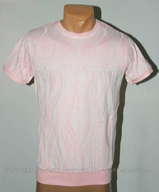 Мужская футболка бледно розовая Турция №500