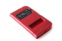 Кожаный чехол книжка для Samsung Galaxy Core Prime G360 / G361H красный, фото 1