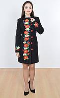 Классическое черное пальто и стильный крой кашемировом пальто