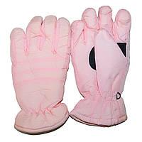 Перчатки детские дутики  розовые