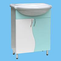 Тумба Т-01 под умывальник для ванной комнаты белая (другие цвета и рисунки)
