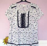 Блуза женская батист летняя большой размер