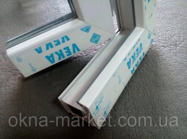 Окно с фрамугой в профильной системе Veka компания