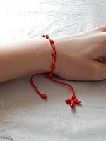 Браслет из красной нити с крестиком, фото 1