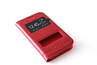 Шкіряний чохол книжка для Samsung Galaxy J1 Ace Duos моделі j110 червоний, фото 1