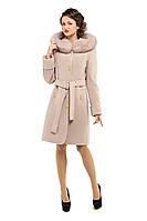 Пальто зимнее женское кашемировое  M-152-30-Z-M бежевое