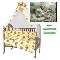 Постельное белье,защита балдахин на кроватку 60 х 120