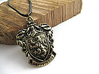 Герб Значок Гриффиндор из Гарри Поттера Кулон на цепочке (Слизерин, Гриффиндор, Когтевран)