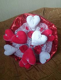 Букет из Плюшевых сердец L