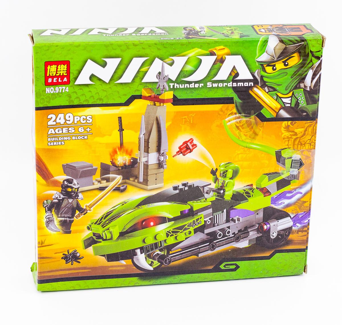"""Конструктор Bela Ninja (аналог Lego Ninjago) 9774 """"Мотоцикл"""", 249 дет"""