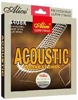 Струны для акустической гитары Alice A408K-L бронза (12-53)