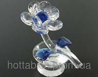 Хрустальный цветок синий