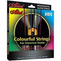 Струны для классической гитары Alice A107С цветные нейлон/медь
