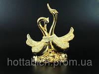 """Фарфоровая статуэтка """"Два лебедя"""" золотая"""