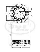 Фильтр масляный для Scania SCT-GERMANY (SM 5738)