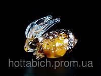 """Статуэтка из стекла """"Заяц Янтарный"""""""