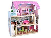Большой деревянный дом для кукол Wooden Toys (Польша) 71*63*30см арт.ZA190944