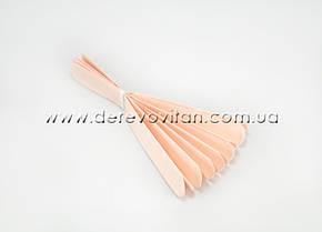 Помпон из тишью, персиковый, 35 см