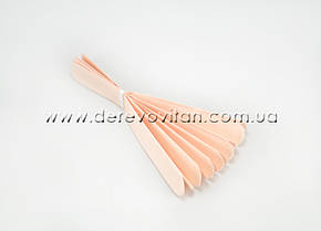Помпон из тишью, персиковый, 40 см