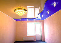 Двухуровневые натяжные потолки, фото 1