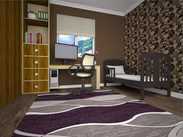 Кровать детская Юниор цвет Венге в интерьере.