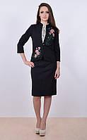 Удобный крой , классический пиджак с вышивкой, фото 1